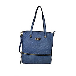 Gionni Accessories - Blue Karina front zipper tote bag