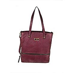 Gionni Accessories - Raspberry Karina front zipper tote bag