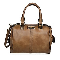 Gionni Accessories - Taupe Kendall hand held bag with side pockets