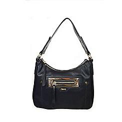 Gionni Accessories - Black ' Anja ' zip pocket feature hobo bag