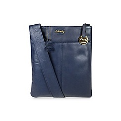 Gionni Accessories - Navy 'Shaula' leather zip top crossbody