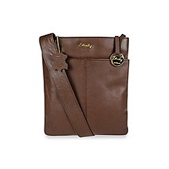 Gionni Accessories - Brown 'Shaula' leather zip top crossbody