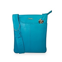 Gionni Accessories - Teal 'Shaula' leather zip top crossbody