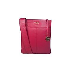 Gionni Accessories - Fuchsia 'Shaula' leather zip top crossbody