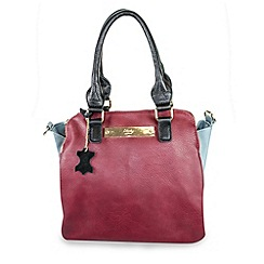 Gionni Accessories - Cherry and blue 'Zeta' double zip tote