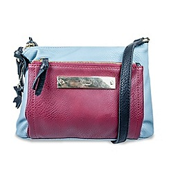 Gionni Accessories - Cherry and blue 'Zeta' multi zip compartment crossbody