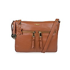 Gionni Accessories - Tan 'Shaula' leather multi pocket crossbody