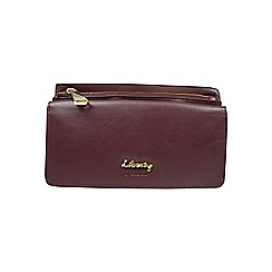 Gionni Accessories - Oxblood 'Zuri' double zip leather purse