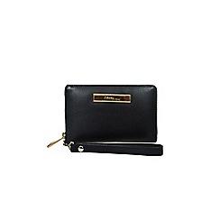 Gionni Accessories - Black 'Fernanda' 16cm leather smartphone wristlet