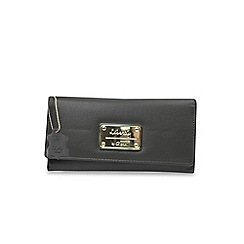 Gionni Accessories - Black 'Avoir' leather flapover purse