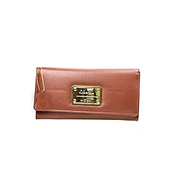 Gionni Accessories - Tan 'Avoir' leather flapover purse