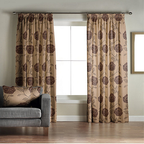 Jeff Banks Home - Alison Aubergine Lined Pencil Pleat Curtains