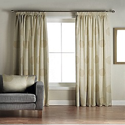 Jeff Banks Home - Alison Green Lined Pencil Pleat Curtains