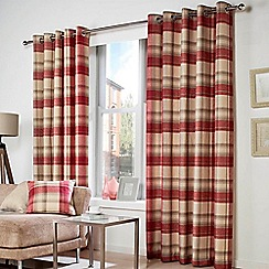 Curtina - Belvedere Red  Eyelet Heading Curtains