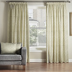 Whitehead - Benedict Posh Gold Pencil Pleat Curtains