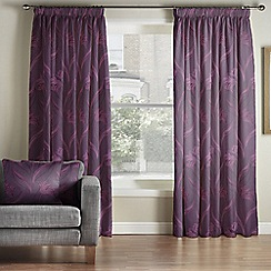 Whitehead - Berlin Amethyst Pencil Pleat Curtains