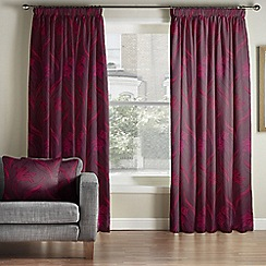 Whitehead - Berlin Garnet Pencil Pleat Curtains
