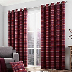 Curtina - Brodie purple lined eyelet heading curtains