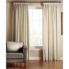 Tru Living - Chic natural polyester/cotton lined pencil pleat curtains