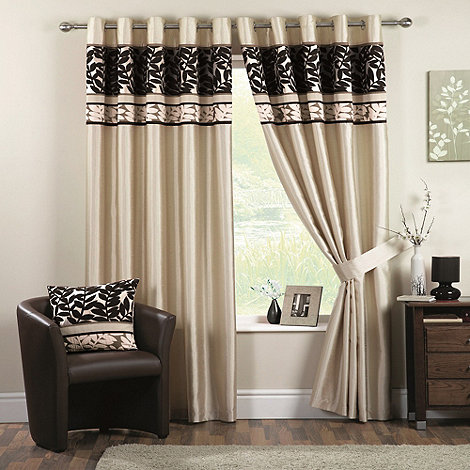 Curtina - Coniston Black Lined Eyelet Curtains