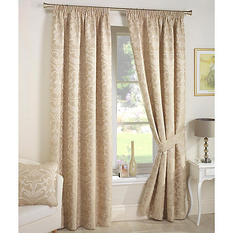 Curtina - Crompton Natural Lined Pencil Pleat Curtains