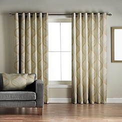 Jeff Banks Home - Cyrus Green Lined Eyelet Curtains