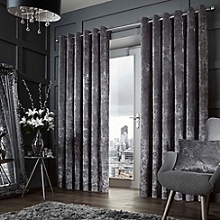 Curtina - Forbury graphite lined curtain eyelet heading curtains
