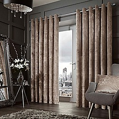Curtina - Forbury mink lined eyelet heading curtains
