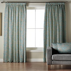 Whiteheads - Garland Blue Lined Pencil Pleat Curtains