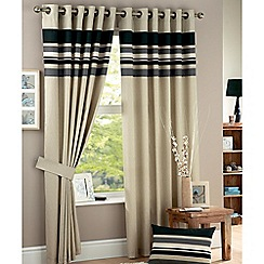 Curtina - Harvard Charcoal Lined Eyelet Curtains