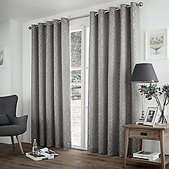 Curtina - Harlow Silver Eyelet Heading Curtains