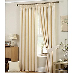 Curtina - Hudson Natural Pencil  Pleat Curtains