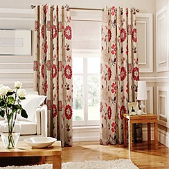 Whiteheads - Islay Red Lined Eyelet Curtains