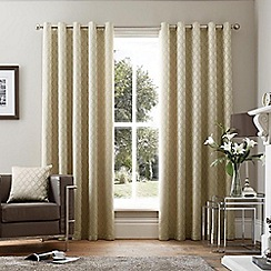Curtina - Islington Stone Eyelet Heading Curtains