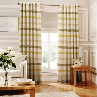 Whiteheads Judy Green Lined Eyelet Curtains