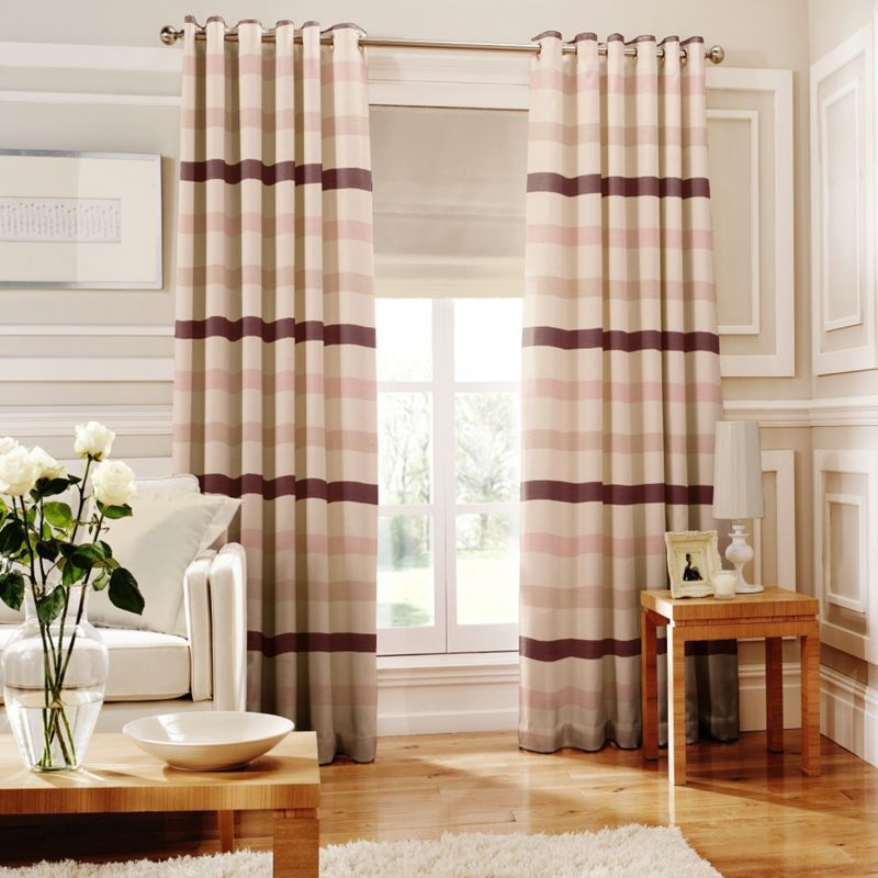 Whiteheads Judy Pink Lined Eyelet Curtains