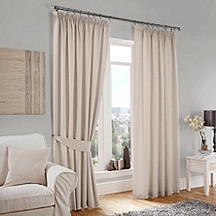 Curtina - Lincoln Cream Lined Pencil Pleat Curtains
