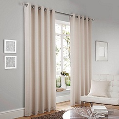 Curtina - Lincoln Cream Lined Eyelet Curtains