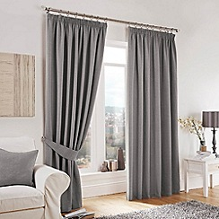 Curtina - Lincoln Silver Lined Pencil Pleat Curtains