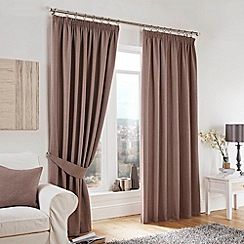 Curtina - Lincoln Taupe Lined Pencil Pleat Curtains