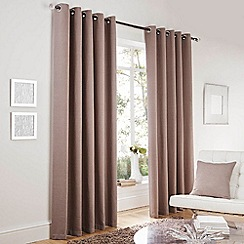 Curtina - Lincoln Taupe Lined Eyelet Curtains