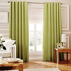 Whiteheads - Loretta Lime Lined Eyelet Curtains
