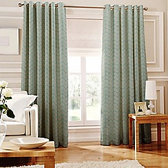 Whiteheads - Loretta Teal Lined Eyelet Curtains