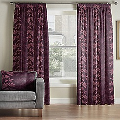 Whitehead - Lucandon Amethyst Pencil Pleat Curtains