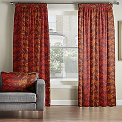 Whitehead - Lucandon Garnet Pencil Pleat Curtains