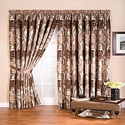 Whiteheads - Lucille Taupe Lined Pencil Pleat Curtains