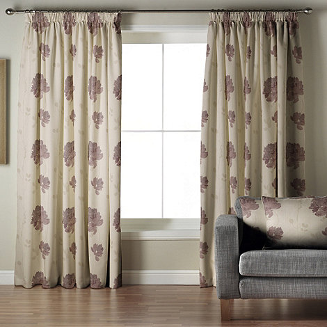 Whiteheads - Mozart Aubergine Lined Pencil Pleat Curtains