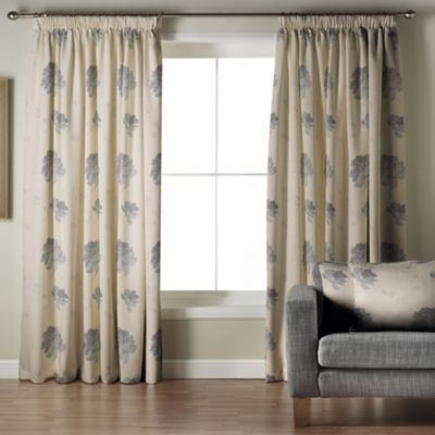 Whiteheads Mozart Denim Lined Pencil Pleat Curtains - . -