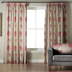 Whiteheads - Mozart Pink Lined Pencil Pleat Curtains