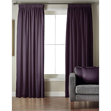Whiteheads - Ripple Amethyst Lined Pencil Pleat Curtains
